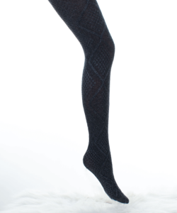 Lineaoro fekete vastag  mintás női harisnyanadrág Saba