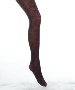 Lineaoro sötétbarna mintás női harisnyanadrág 40d Fantasy