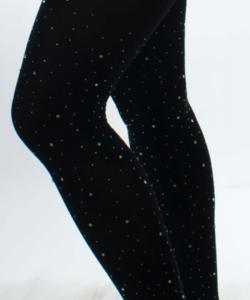 Fekete strasszköves csillogós harisnya nadrág 100D