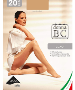 Donna bc bézs magasfényű harisnyanadrág Luxor