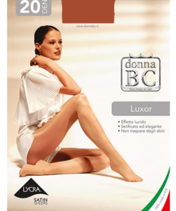 Donna bc cognac színű magasfényű harisnyanadrág Luxor