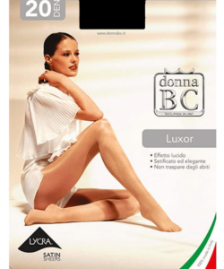 Donna bc magasfényű harisnyanadrág fekete Luxor
