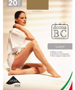 Donna bc magasfényű harisnyanadrág visone Luxor