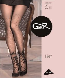 Gatta Fancy fekete mintás harisnyanadrág 20D
