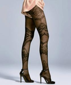 Fiore fekete mintás harisnya nadrág 30D Julia