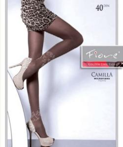 Fiore mikrofibra fekete mintás harisnyanadrág 40den Camilla