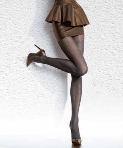 Fiore fekete mintás harisnya nadrág 40den Cayenna