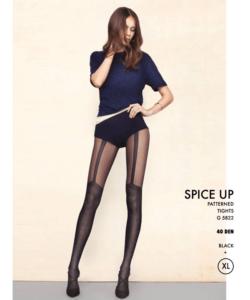 Fiore fekete mikro necc combfix mintás harisnya nadrág 40den Spice Up