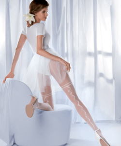 Gabriella mintás fehér harisnya Charme 04