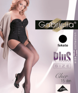 Gabriella fekete plus size combfix Cher
