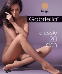 Gabriella egyszínű bézs harisnya Classic 20Den