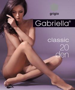 Gabriella egyszínű szürke harisnya Classic 20Den