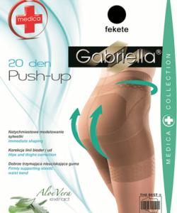 Gabriella fenékemelő fekete harisnya Push up 20Den