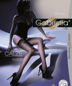 Gabriella fekete combfix Calze Katia