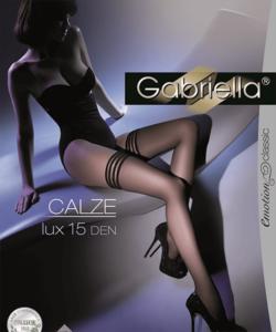 Gabriella fekete combfix Calze lux