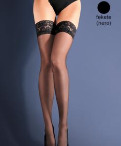 Gabriella fekete combfix Erotica Calze Classic