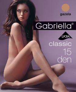 Gabriella egyszínű sötét bézs harisnya Classic 15 Den