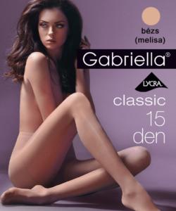 Gabriella egyszínű bézs harisnya Classic 15 Den