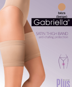 Gabriella bézs rugalmas szatén combvédő
