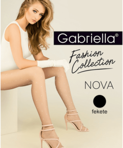 Gabriella pöttyös fekete harisnya Nova