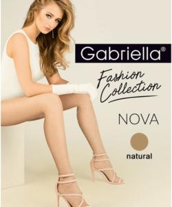 Gabriella pöttyös bézs harisnya Nova