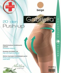 Gabriella fenékemelő bézs harisnya Push up 20Den