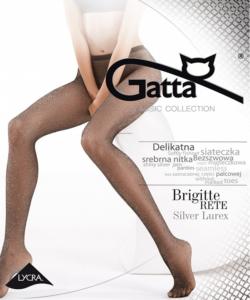 Gatta exkluzív silver lurex necc harisnya nadrág Brigitte