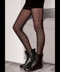 Gatta fekete pamut mintás  harisnya nadrág N7