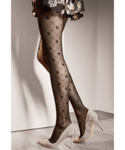 Gatta fekete mintás harisnya nadrág 40den Royale02