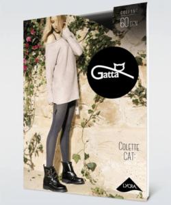 Gatta melange szürke harisnya nadrág 60den Colette Cat03