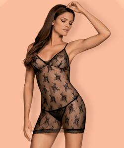 Obessive szexi necc 2 részes hálóing fekete Jennyfairy