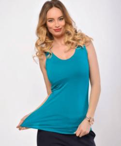 Victoria moda olajzöld ujjatlan basic női felső