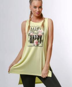 Victoria moda mintás sárga női felső