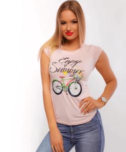 Victoria moda Summer rózsaszín női felső