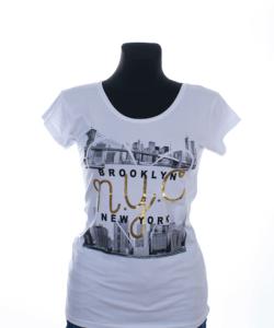 Fehér mintás női póló