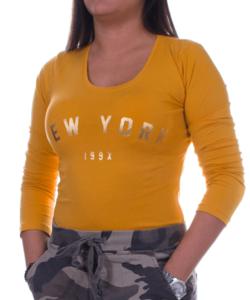 Mustársárga new york női felső