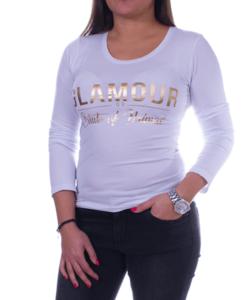 Fehér glamour női felső