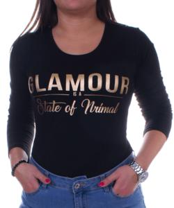 Fekete glamour női felső
