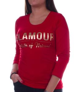 Piros glamour női felső