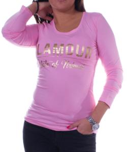 Rózsaszín glamour női felső