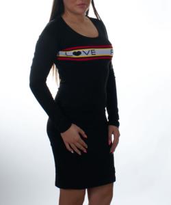 Fekete love friday női tunika