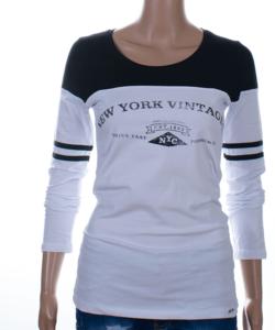 Fehér-fekete new york női felső