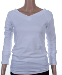 Fehér v-nyakú női felső