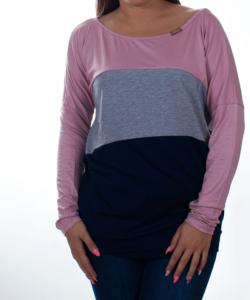 Púder-szürke-kék női felső