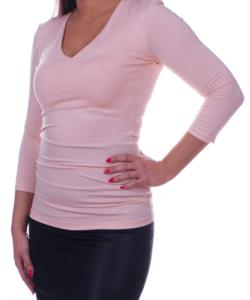 Kikiriki rózsaszín v-nyakú női felső
