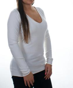 Törtfehér finomkötött női pulóver