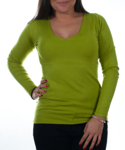 Pisztácia finomkötött női pulóver