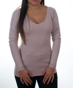 Púder finomkötött női pulóver
