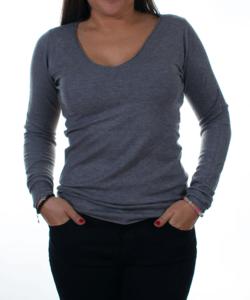 Sötétszürke finomkötött női pulóver 24ecc4ae8c