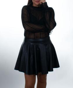 Kikiriki fekete átlátszó csipkés női felső